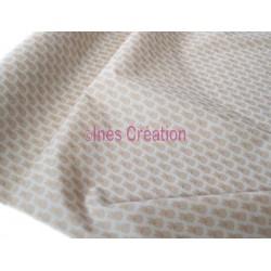 Tissu en coton vendu au mètre Ananas Doré Oeko-tex