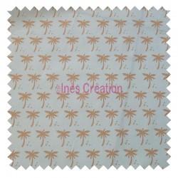 Tissu en 100% coton vendu au mètre Palmier Doré Oeko-tex